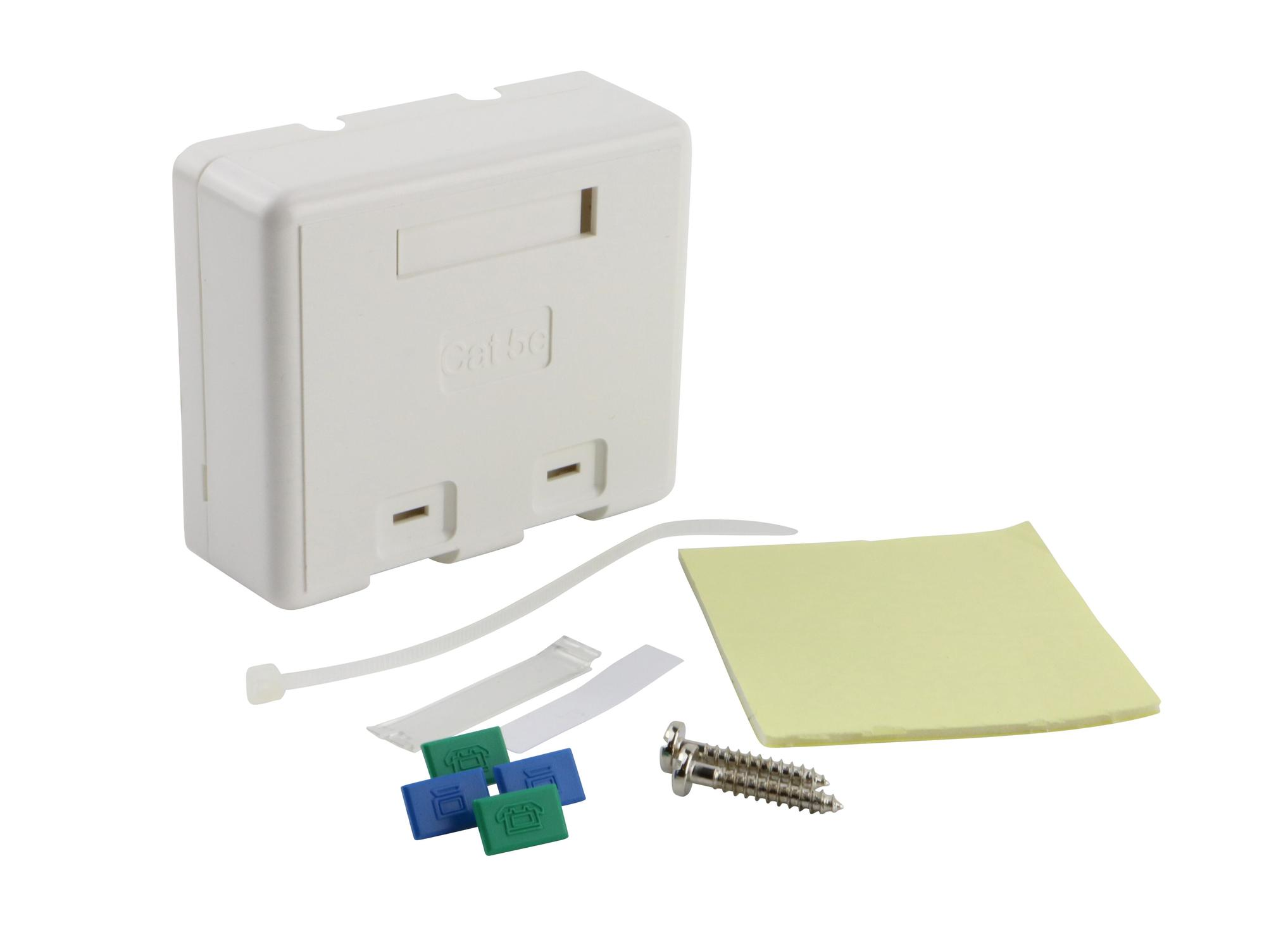 Excel Cat5e Excel Plus 2 port surface mount box