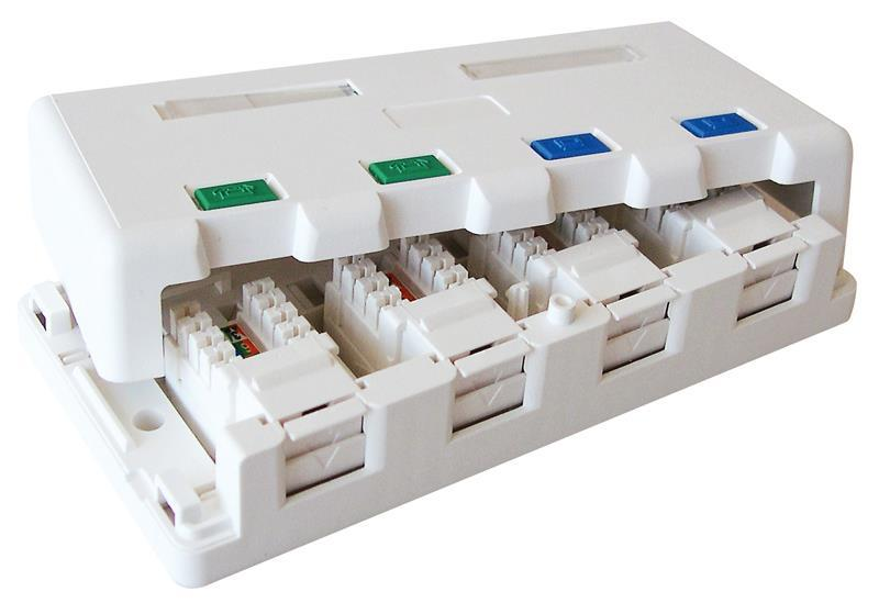 Excel Cat5e Excel Plus 4 port surface mount box