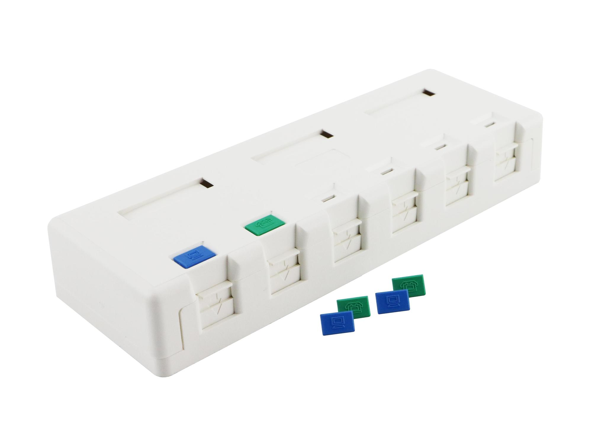 Excel Cat5e Excel Plus 6 port surface mount box