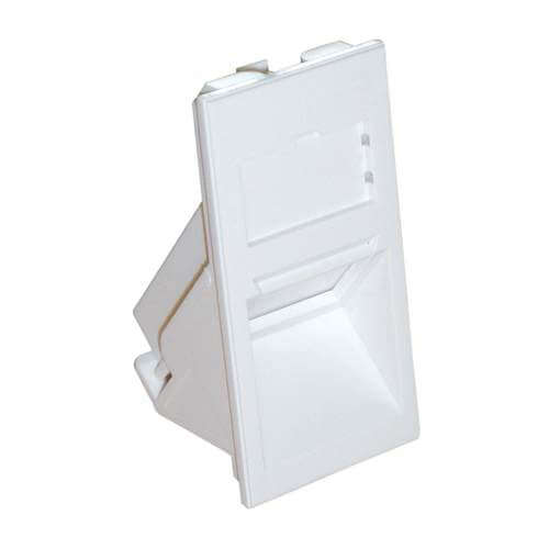 Excel Euromod 25 x 50mm Angled Keystone Shutter - White