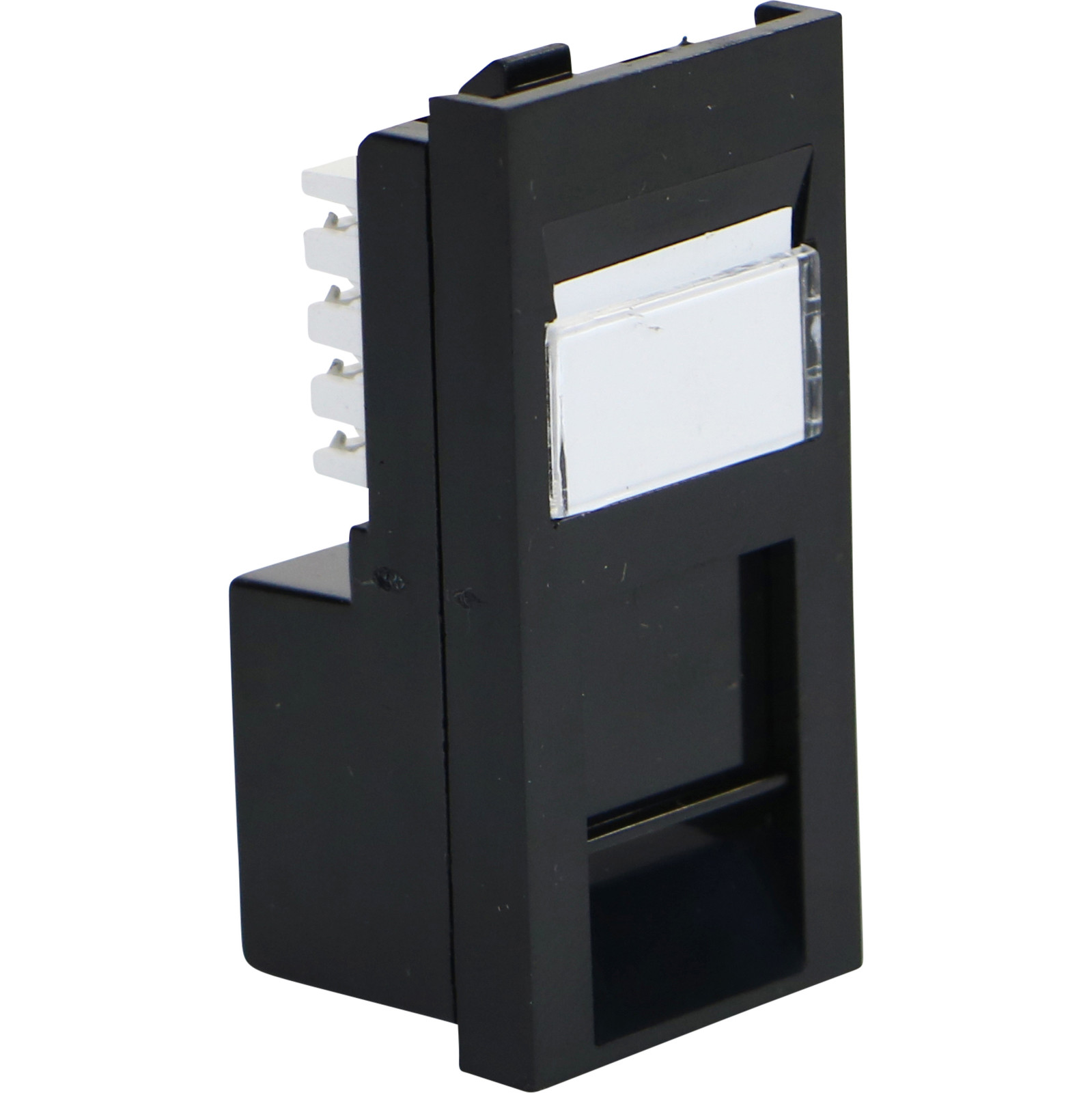 Excel Cat6 UTP RJ45 Low Profile Module - Black