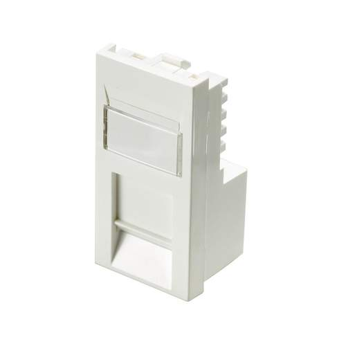 Excel Cat6 UTP RJ45 Low Profile Module - White