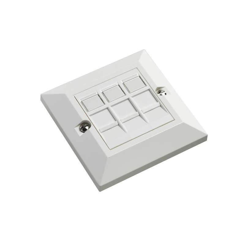 Excel Cat6 Triple 3 in 1 RJ45 Wall Plate inc Modules
