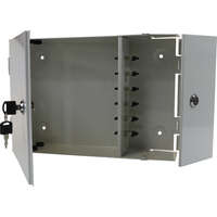 12 Port SC Duplex 2 Door Lockable Wall Mounted - Loaded
