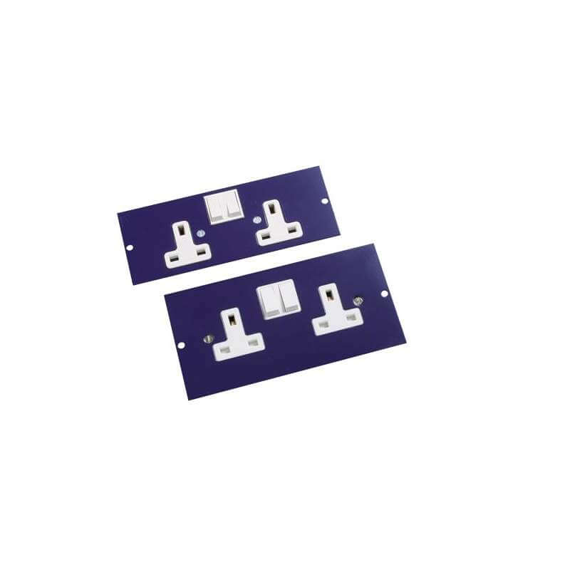 Excel Double Switched Socket For 350-601 3-Compartment Floor Box