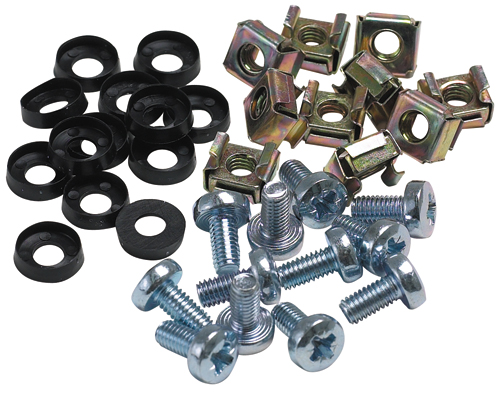 M6 Cage Nuts, Bolts and Washers. Pack of 50