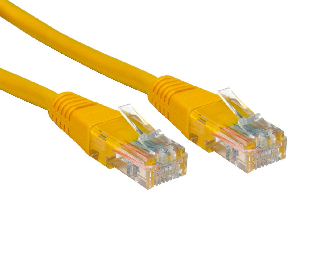 Cat5e Moulded Patch Lead 1.5m - Yellow